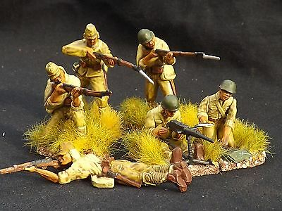 1/32 6x painted 54mm Japanese infantry WW2 CTS/ TSSD/ Airfix Collectors Standard