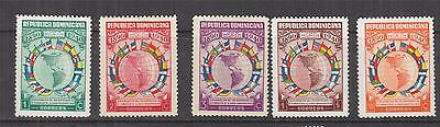 DOMINICAN REPUBLIC, 1940 Pan American Union set of 5, lhm.