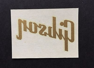 "Gibson- Vintage- Old Stock - Original ""GIBSON"" Logo Decal from Kalamazoo factory"