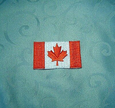 Canadian Flag Sew On Patch - Medium Used