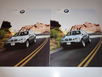 2000 and 2001 BMW X5 Brochures