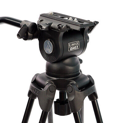 Professional Fluid Head with 75mm Ball Base & Variable Tilt Drag for DSLR Video