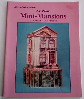 Rare OOP 1992 Mini-Mansions Stained Glass Pattern Book NOS - Awesome Miniatures!