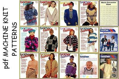 Brother Fashion issues 1-11 Beginners, Babies & Collection machine knitting CD