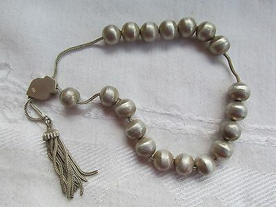 Vintage Sterling Silver Komboloi Beads Greek Worry Beads Pocket size