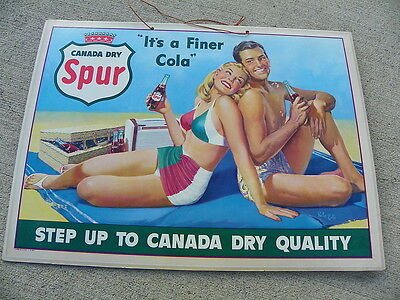 Canada Dry Sur Cola Cardboard Pin Up Girl Sign  Victor Kalin