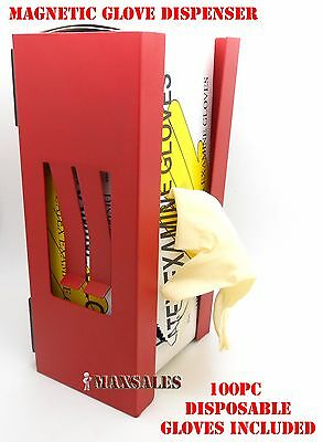 New Magnetic Glove/Tissue Dispenser + 100pc Latex Glove Included !