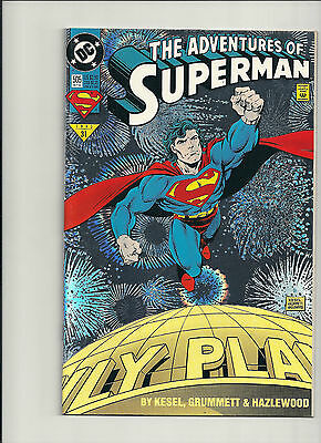 Adventures of Superman  #505 NM- Foil Cover!