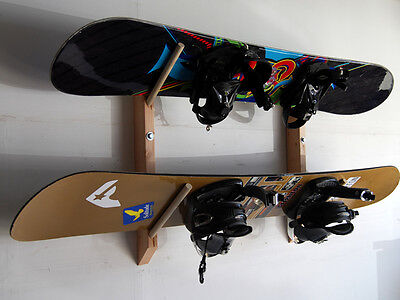 2 Snowboard Wall Rack by Willow Heights Designs