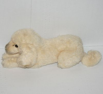 Vintage Applause Stuffed Animal Dog Plush Sitting Brown Eyes Old Retro Toy