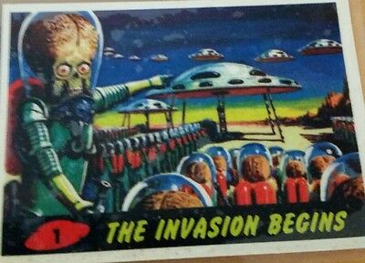 1994 Topps Archives Mars Attacks Archives Promo Card The Invasion Begins #1