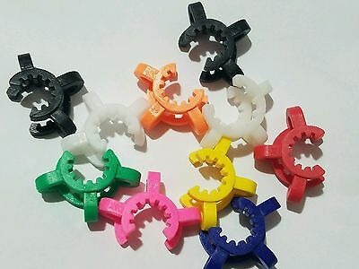 15 / 14 mm KECK CLIPS GLASS CONNECTORS , JOINT CLIPS MIXED COLORS