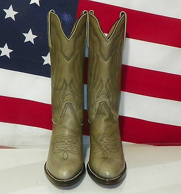 Womens Frye Green Marble Leather Western Cowboy Boots Size 7 Aa