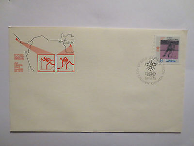 Calgary Canada 1988 Winter Olympic Games Postal Cover With Stamps, Olympics.