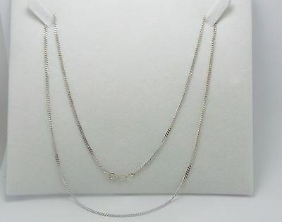 10Ct White Gold Curb Link Chain Necklace - 52 Cm - 4.52 Grams