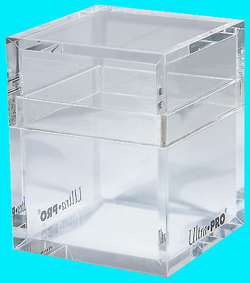 ULTRA PRO HANDMADE ACRYLIC ICE TOWER CLEAR DECK BOX New Gaming Card Dice Storage