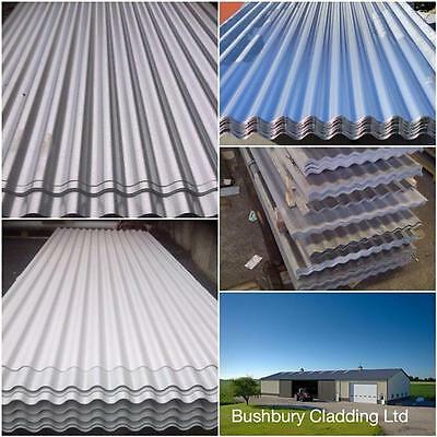 Galvanised corrugated steel roofing sheets