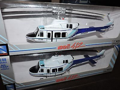 NEW RAY 1/48th SCALE BELL 412 HELICOPTER 2 PACK BUILT MODEL KITS   # 21157