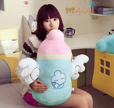 Free Shipping 60cm Cute Plush Nursing Bottle Hold Pillow Stuffed Animal Soft Toy
