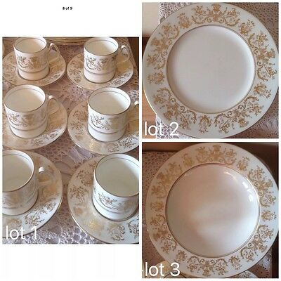 6 Coalport Allegro Design Coffee Cups & Saucers, Dinner Plates Or Soup Plates