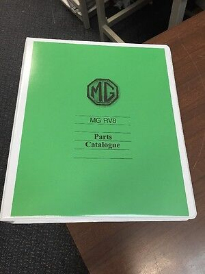 MG RV8 (Factory) Parts Manual Catalogue Exploded Views And Part Numbers