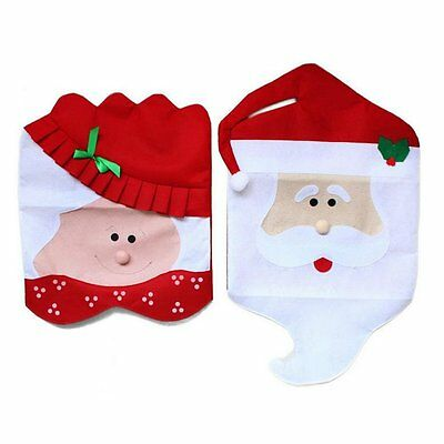 SZsaien Mr & Mrs Santa Claus Christmas Chair Covers Party Home Dinner Decoration