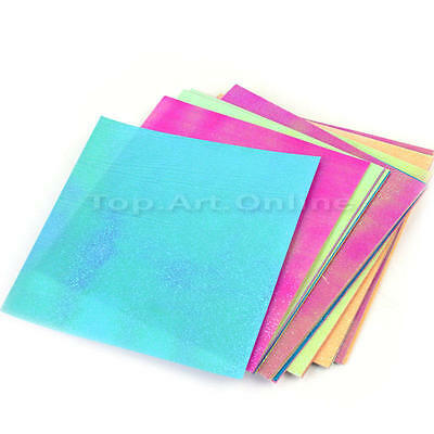 40 Sheets DIY Craft Shiny Origami Folding Rose Star Paper Colorful 9.5x9.5cm