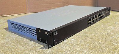 CISCO SG200-26P  With power cord & rack  Real time listing 1 Year warranty CISCO