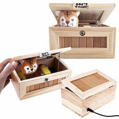 Don't Touch Cartoon Tiger Useless Box tiger automatically turn off Funny Box Toy