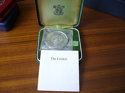 Royal Mint 1972 Silver Proof Crown ( Still Sealed )