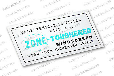 ZONE TOUGHENED WINDSCREEN DECAL - 1960's to 1970's CHRYSLER VALIANT HOLDEN FORD