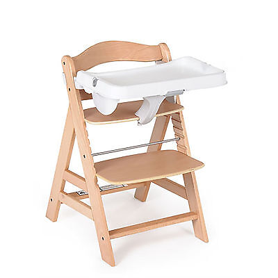 New Hauck White Alpha Highchair Feeding Tray High Chair Adjustable Food Tray