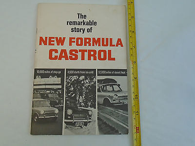Castrol, The remarkable story of New Formula Castrol. 1966?