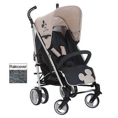 Hauck Disney Classic Mickey Mouse Charcoal Pushchair Baby Stroller & Raincover