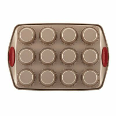 Rachael Ray Cucina Nonstick 10 Piece Bakeware Set in Brown and Red