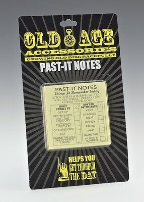 Old Age Past It Notes