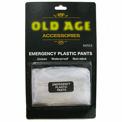 Old Age Emergency Plastic Pants Novelty Gift