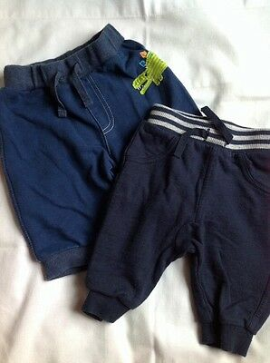 Baby Boys Trousers 0-3 months 2 blue pairs of tracksuit/jogging bottoms clothes