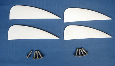 4 pieces of 1.5 inch fin for kiteboard kitesurfing kiteboarding, fly surfing