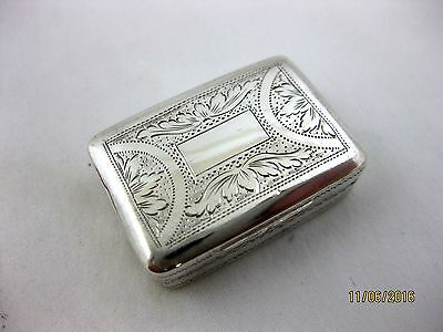 Antique Solid Silver  VINAIGRETTE   Hallmarked   BIRMINGHAM 1824