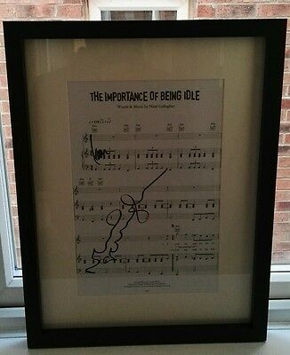 """OASIS Music Sheet """"The Importance of Being Idle"""" SIGNED AUTOGRAPH LIAM NOEL COA"""
