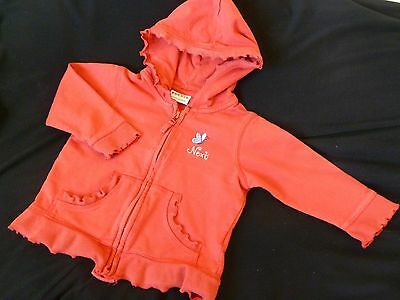 Girls Next Red Zipped Hoodie Age 18 - 24 months