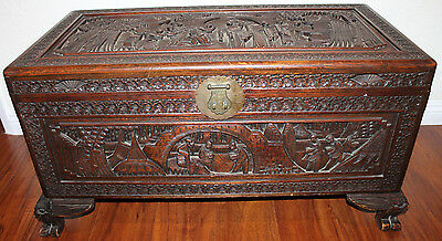 Old Antique Chinese Sandalwood Wood Trunk Chest from May Chong & Co Shanghai