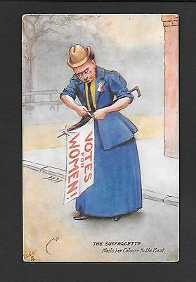 Raphael Tuck Oilette Postcard Suffragette Votes for Women dated 1910