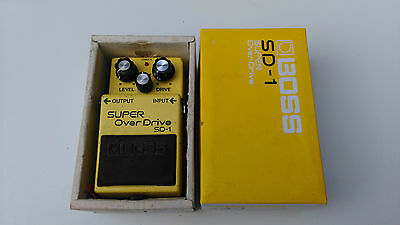 Vintage Boss Sd-1 Super Overdrive With Box - Free Next Day Delivery In The Uk