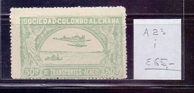 ! Colombia 1922. Air Mail Stamp. YT#A23. €65.00 !