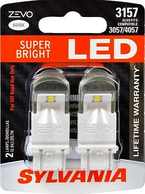 SYLVANIA ZEVO LED SUPER BRIGHT 3157 3057 4057 LED - 12v 0.7W - 2