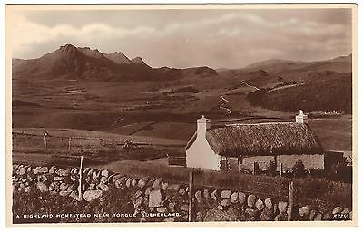 A Highland Homestead near Tongue Sutherland - real photo - unused - J B White