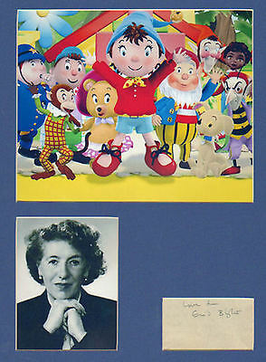 ENID BLYTON hand signed pencil signature + pics in display