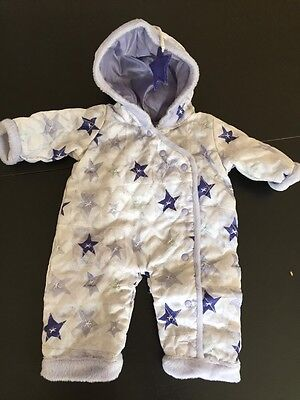 Retired 1st Ed. Bitty Twins Snowy Day Purple One Piece Girl Snowsuit 12 RARE